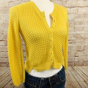Anthropologie Sparrow crop yellow sweater